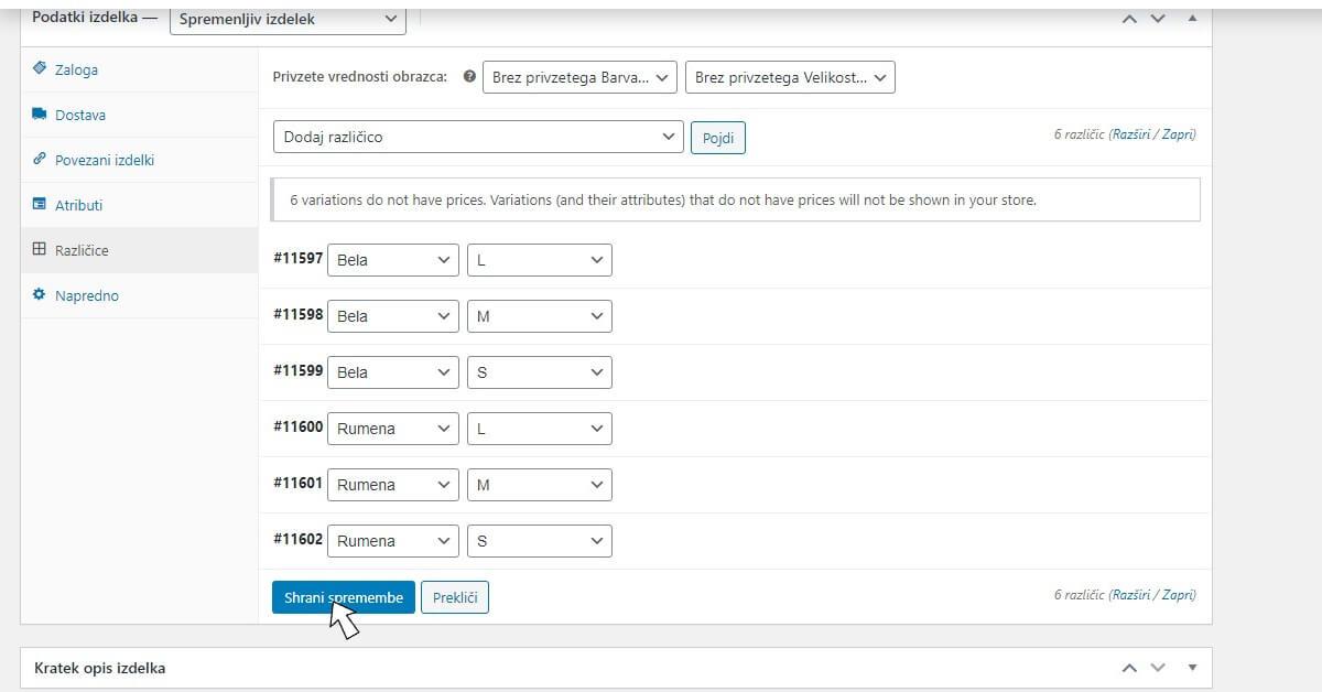 Kako dodati spremenljiv izdelek v WooCommerce spletno trgovino?