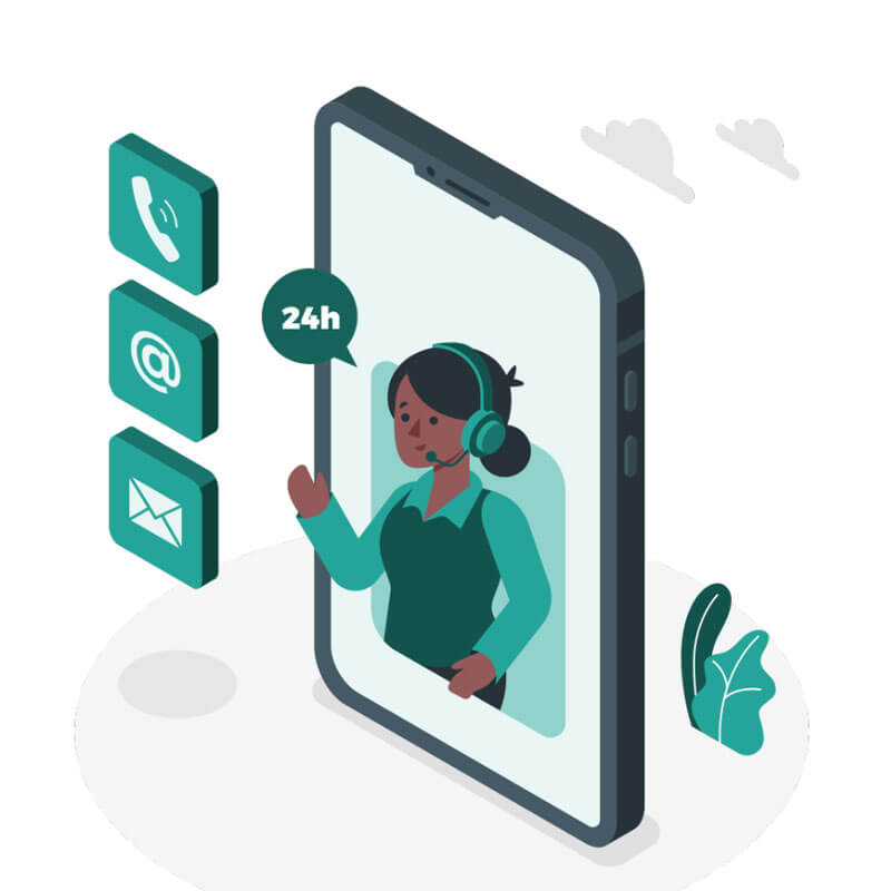 svetovanje in pomoč preko telefona in e-pošte