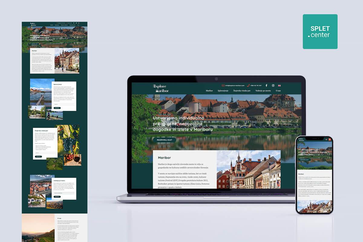 Izdelava spletne strani explore-maribor.com